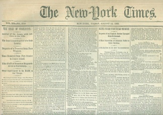 The New York Times, August 14, 1863