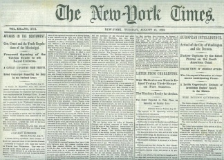 The New York Times, August 18, 1863
