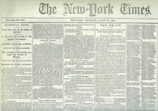 The New York Times, August 27, 1863 (Image1)