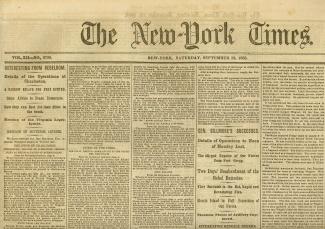 The New York Times, September 12, 1863 (Image1)