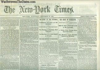 The New York Times, September 16, 1863