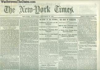 The New York Times, September 16, 1863 (Image1)