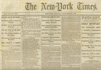The New York Times, September 19, 1863 (Image1)