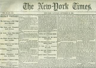 The New York Times, September 20, 1862 (Image1)