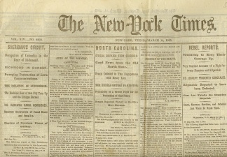 The New York Times, March 14, 1865