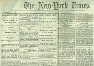 The New York Times, May 3, 1865