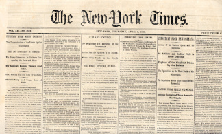 The New York Times, April 9, 1863 (Image1)
