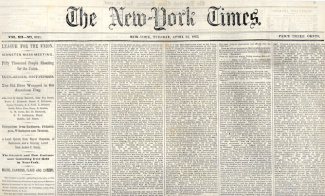 The New York Times, April 21, 1863 (Image1)