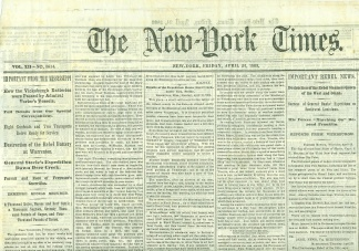 The New York Times, April 24, 1863
