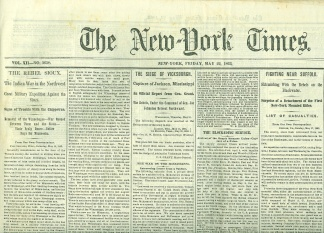 The New York Times, May 22, 1863