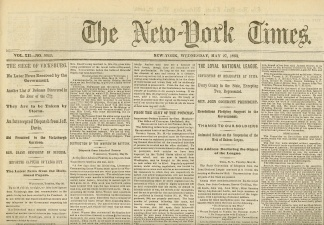 The New York Times, May 27, 1863