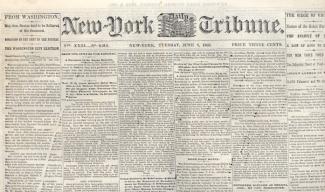New York Daily Tribune, June 2, 1863 (Image1)