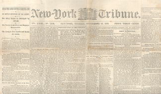 New York Daily Tribune, September 29, 1863