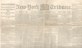 New York Daily Tribune, September 29, 1863 (Image1)