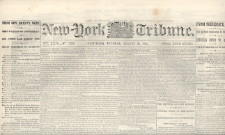 New York Daily Tribune, August 30, 1864 (Image1)