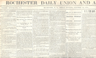 Rochester Daily Union and Advertiser, Oct. 14, 1864 (Image1)