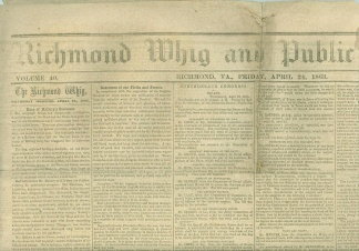 Richmond Whig And Public Advertiser Newspapers