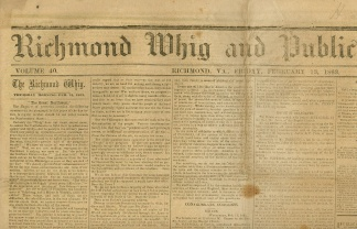 Richmond Whig And Public Advertiser, February 13, 1863