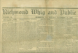 Richmond Whig And Public Advertiser, November 18, 1862