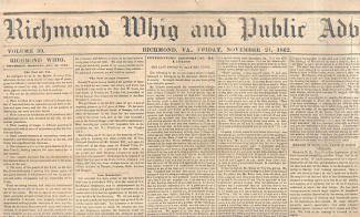 Richmond Whig And Public Advertiser, November 21, 1862