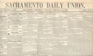 Sacramento Daily Union, January 14, 1864 (Image1)