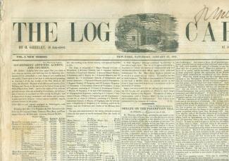 The Log Cabin, New York, January 23, 1841 (Image1)