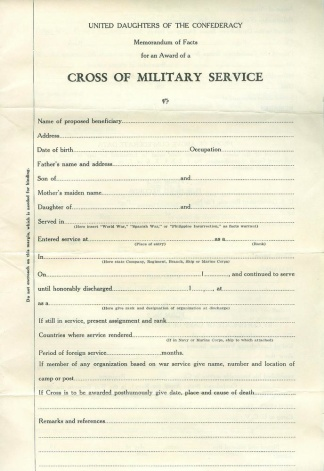 United Daughters of the Confederacy Memorandum (Image1)