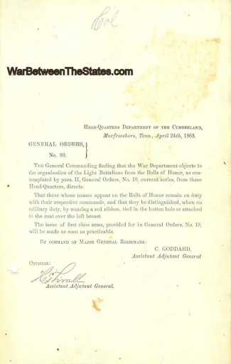 Order Concerning Roll of Honor of Light Battalions (Image1)