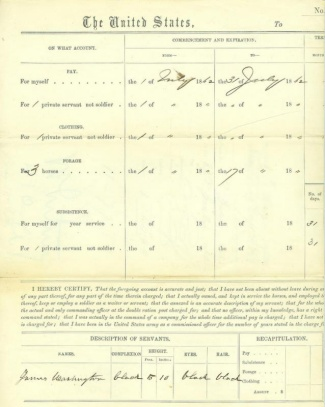 1862 Union Officer's Pay Voucher (Image1)