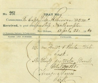 1864 New Orleans Imprinted Receipt (Image1)