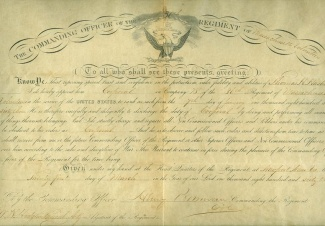 1863 Appointment For Corporal, 36th Massachusetts Infantry