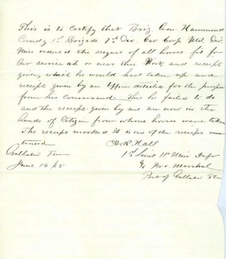 Communication from Lieutenant of 11th Minnesota Infantry (Image1)