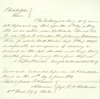 1864 Affidavit For Musket Lost In Battle