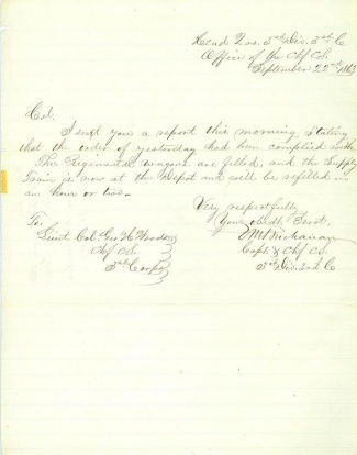 1863 Letter From Chief C.S., 3rd Army Corps (Image1)