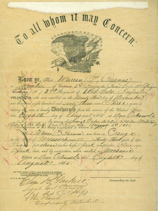 81st U.S. Colored Infantry Discharge (Image1)