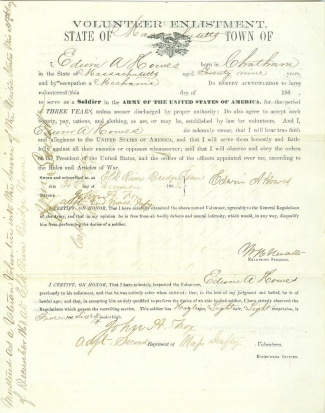 2nd Massachusetts Infantry Enlistment Form