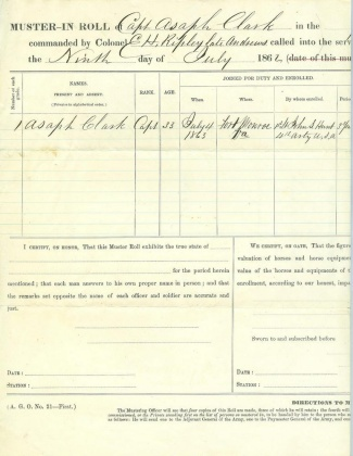 Muster In Roll, 9th Vermont Infantry (Image1)