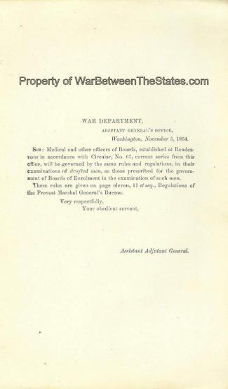 1864 Imprint, War Department, Adjutant General's Office (Image1)