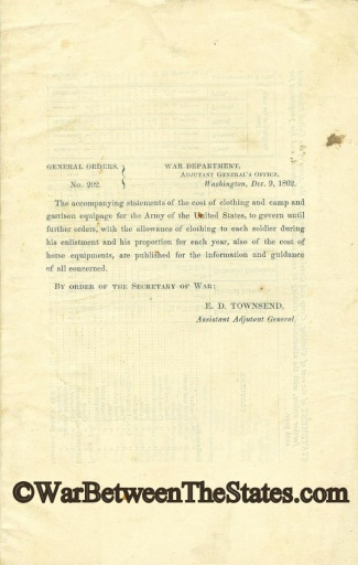 Statement of the Cost of Clothing and Camp and Garrison Equipage (Image1)