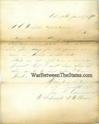Statement of Rations Drawn by U.S. Transport N.W. Thomas (Image1)