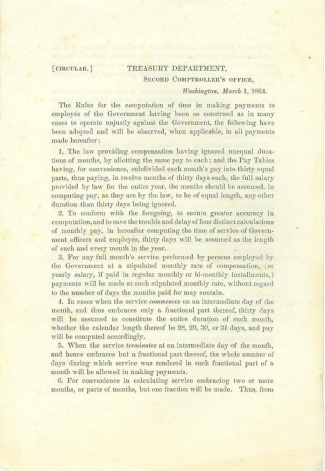 1864 Treasury Department Circular (Image1)