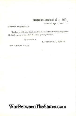 1862 Orders From General Butler at New Orleans, La. (Image1)