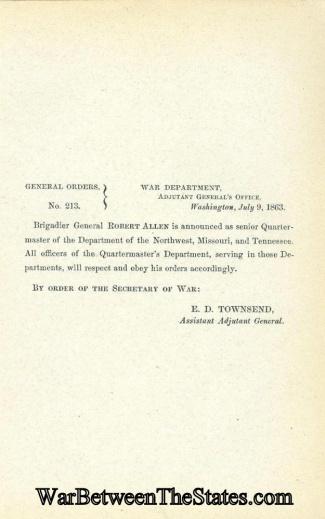 General Robert Allen is Named Senior Quartermaster (Image1)
