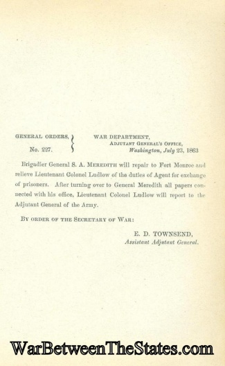 General Solomon A. Meredith is Ordered to Duty as Agent  (Image1)