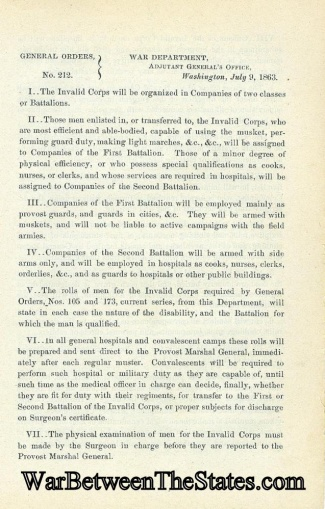 Order Concerning The Organization Of The Invalid Corps