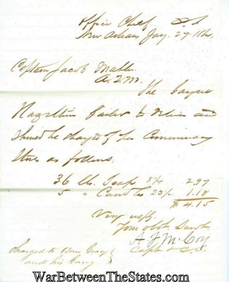 1864 Letter From the Office of the Chief of Commissary (Image1)