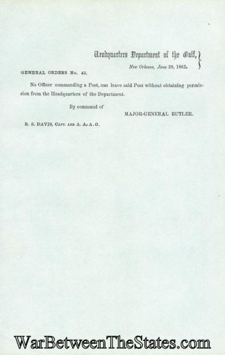 General Butler Orders That No Officer Commanding a Post (Image1)