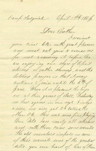 2nd Rhode Island Infantry Letter (Image1)