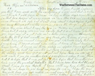 116th Ohio Infantry Letter
