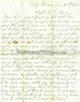 116th Ohio Infantry Letter (Image1)